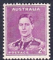 Australia ASC 188  1937-49 King George VI, 2d Purple Perforated 14x15, Mint Never Hinged - 1937-52 George VI