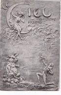 PROGRAMME  DU  CABARET DU  CIEL (  Heaven )   PARIS  MONTMARTRE ,,,CIEL  , ILLUSIONS , VISIONS,,,4 CARTES  POSTALES ,,, - Programmi