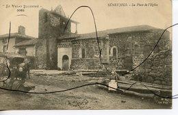 CPA. D43.  SENEUJOLS. La Place De L'église. M. B. LE PUY. Le Velay Illustre - Andere Gemeenten