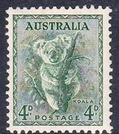 Australia ASC 192 1937-49 King George VI, 4d Koala P  13.5 X 14, MNH - Mint Stamps