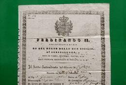 D-IT CARTA DI PASSAGGIO Regno Delle Due Sicilie NAPOLI 1842 Lasciapassare - Documents Historiques