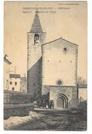 ODEILLO (66) église Et Entrée Du Village Animation éditeur Fau - Autres Communes