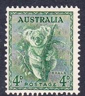Australia ASC 198 1937-49 King George VI, 4d Koala, Perf 14 X 15, Mint Never Hinged - Mint Stamps