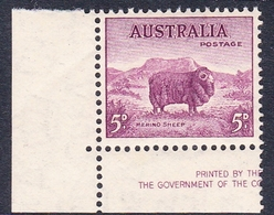 Australia ASC 199 1937-49 King George VI, 5d Ram, Perf 14 X 15, Mint Never Hinged - Mint Stamps