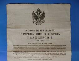 D-IT Austria Territorio Di Lucca 1815 Dogana A Colle Di Compito Cm 42x28 - Documents Historiques