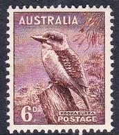 Australia ASC 200 1937-49 King George VI, 6d Kookaburra, Perf 14 X 15, Mint Never Hinged - Mint Stamps