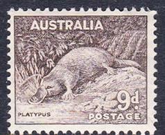 Australia ASC 201 1937-49 King George VI, 9d Platypus, Perf 14 X 15, Mint Never Hinged - Mint Stamps