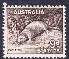 Australia ASC 206 1937-49 King George VI, 9d Platipus, No Watermark, Mint Never Hinged - Mint Stamps
