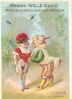 Chromo - Février Le Carnaval - Confection Draperies  Maison Wille - David - Gand Gent - Sonstige