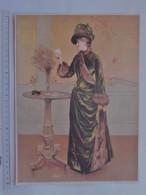 CHROMO TRES GRAND FORMAT: LA PARISIENNE L'HIVER - Peint Par SINABALDI (SINIBALDI ?) - Costume Chapeau MODE - Trade Cards
