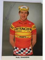 Carte Postale Rudy DHAENENS - Dédicace - Hand Signed - Autographe Authentique - - Cyclisme
