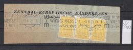35K107 / 1923 - ZENTRAL EUROPAISCHE LANDER BANK ,  Perfin Perfores Perforiert Gezahnt , Austria Osterreich Autriche - Österreich