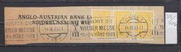 35K106 / 1923 - ANGLO AUSTRIAN BANK , / AOeB / Perfin Perfores Perforiert Gezahnt , Austria Osterreich Autriche - Österreich