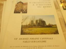 CAHIERS ARCHEOLOGIE HISTOIRE BERRY N°114 VAILLY SUR SAULDRE CONCRESSAULT ASSIGNY - Centre - Val De Loire