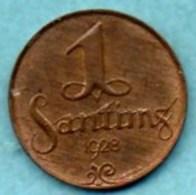 (r65)  LATVIA / LETTONIE  1 Santims 1928 With Name Km#1 - Latvia