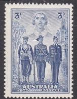 Australia ASC 216 1940 Australian Armed Forces, 3d Blue, Mint Never Hinged - Mint Stamps