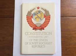 Propagande Soviétique : CONSTITUTION OF THE UNION OF SOVIET SOCIALIST REPUBLICS  Ed. Novosti 1977 - History