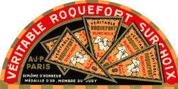 S 38 - ETIQUETTE DE FROMAGE-   ROQUEFORT    A .J.P. PARIS - Fromage