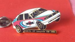 Pin's  LANCIA   DELTA  HF  1991    Arthus  Bertrand - Rallye