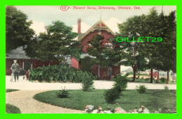 OTTAWA, ONTARIO - FLOWER BEDS, DRIVEWAY - ANIMATED -  C. H. THORBURN - - Ottawa