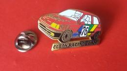 Pin's  RENAULT  CLIO  CLEON  RACING  Arthus  Bertrand - Renault