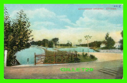 OTTAWA, ONTARIO - GOVERNMENT DRIVEWAY - TRAVEL IN 1913 - MONTREAL IMPORT CO - - Ottawa
