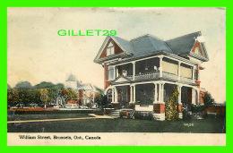 BRUSSELS, ONTARIO - WILLIAM STREET - TRAVEL IN 1912 - A. J. LAHAIE - - Ontario
