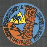 TIKI TAHITI    Autocollant - Sticker - Autocollants