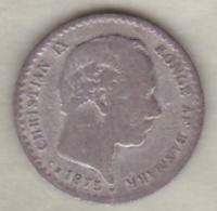 Denmark , 10 Ore 1875 Christian IX , Argent , KM# 795.1 - Dinamarca
