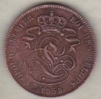 Belgique , 2 Centimes 1859 , Leopold Premier - 1831-1865: Léopold I