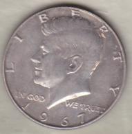 Etats-Unis . Half Dollar 1967. Kennedy . Argent - Federal Issues