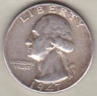 Etats-Unis . Quarter Dollar 1947 . Washington  . Argent - 1932-1998: Washington