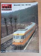 Vie Du Rail 1390 1973 RTG Cyclotourisme ATC Corse Bastia Corte Ajaccio Argenteuil Adieu La Vapeur Depot De Narbonne - Trains