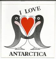I LOVE ANTARCTICA !   Autocollant - Sticker - Timbres