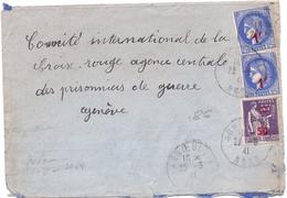 France Lettre Ceres Paix Pour La Croix Rouge A Geneve Avec Censure De Annoeullin Nord - Guerra Del 1939-45