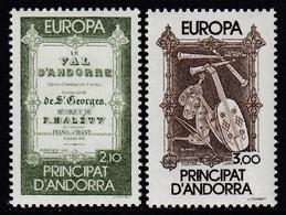 French Andorra 1985 - Europa/CEPT - Mi 360-361 ** MNH - Europa-CEPT