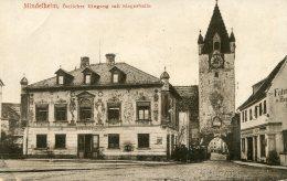 GERMANY - Mindelheim - Ostlicher Eingang Mit Siegeshalle 1918 Germany Army Postcard - Mindelheim