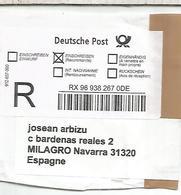 ALEMANIA DEUTSCHE POST REGISTERED LABEL - [7] République Fédérale