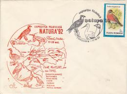 72036- KESTREL, HERON, STORK, BUSTARD, BIRDS, SPECIAL COVER, 1992, ROMANIA - Oiseaux