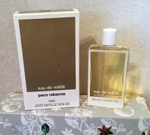 """Grande Miniature """"Eau De Métal"""" De PACO RABANNE  Eau De Toilette 20 Ml Dans Sa Boîte - Miniatures Men's Fragrances (in Box)"""