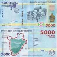 Burundi  P-53  5000 Francs  2015  UNC - Burundi