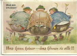 Fantaisie Illustrateurs Humour Humor Allemagne Fetes D Octobre Oktoberfest Biere Bier - Humour