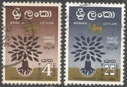 Ceylon. 1960 World Refugee Year. Used Complete Set. SG 469-470 - Sri Lanka (Ceylon) (1948-...)