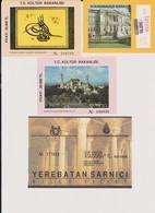 Lot 4 Tickets Hétéroclites Entrées Musées,ISTANBUL Turquie Dolmabahce, Aya Sofia, Topkapi, Citern Basilic - Tickets - Vouchers