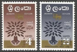 Ceylon. 1960 World Refugee Year. MH Complete Set. SG 469-470 - Sri Lanka (Ceylon) (1948-...)