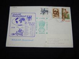 India 1987 Madras Schulschiff Deutschland Cover__(L-17999) - India