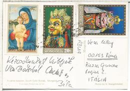MONGOLIA TP ARTE VIRGEN CON NIÑO BELLINI ARTE MASCARA - Madonnas
