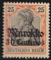 Deutsch   Marokko    .    Michel  .    50      .     *   .     Ungebraucht Mit Falz   .   /   .   Mint-hinged - Deutsche Post In Marokko