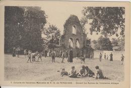 D72 - COLONIE DE VACANCES MANCELLE DE N.D. DE PERSEIGNE-DEVANT LES RUINES DE L'ANCIENNE ABBAYE-(GROUPE D'ENFANTS-CURES) - Autres Communes