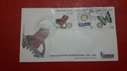 La Costa Rica FDC 100 Ans Du Rotary - Rotary, Lions Club